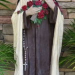 Beginning of St. Theresa Statue before restoration