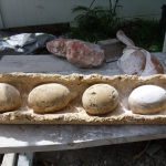 Before restoration of Dinosaur Egg Sculpture